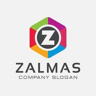 Lettre coloré z logo