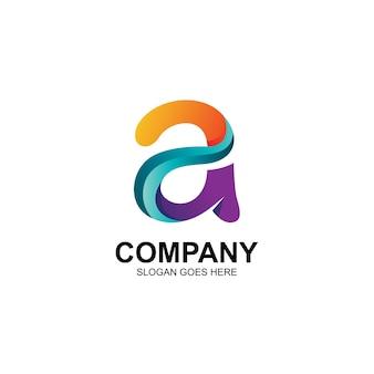 Lettre colorée un logo