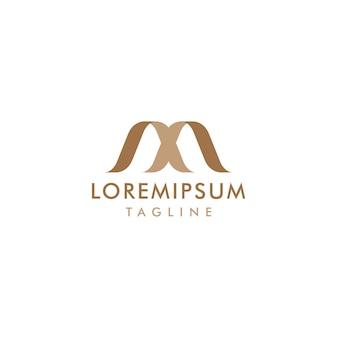 Lettre créative logo m initiale avec forme abstraite
