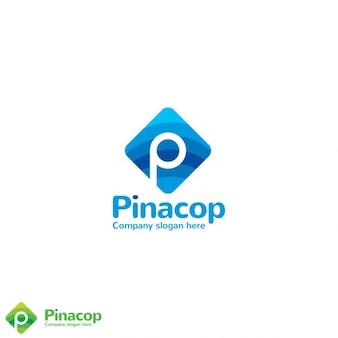 Lettre creative p logo