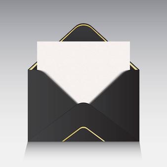 La lettre dans l'enveloppe.