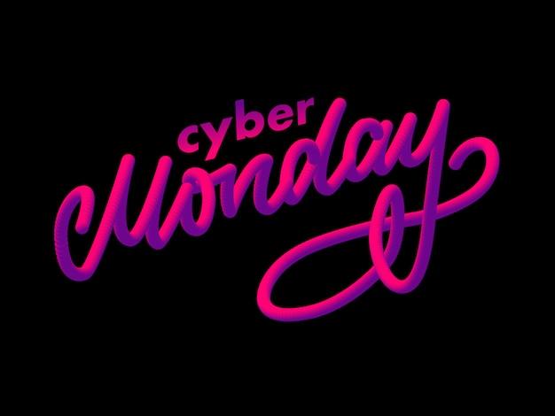 Lettre du cyber lundi. bannière de vente cyber lundi
