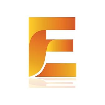 Lettre e forme logo, alternative logo initiale e