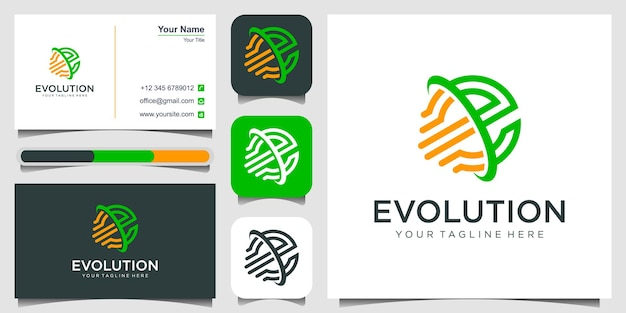 Lettre e motion logo design avec swoosh et évolution du symbole de l'élément de vitesse pour la technologie numérique