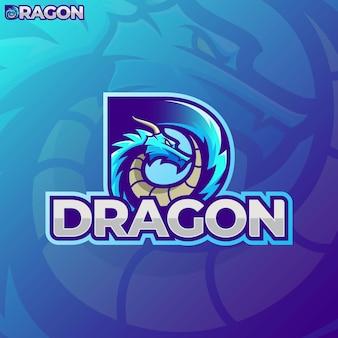Lettre d - e sport dragon logo