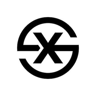 Lettre élégante symbole s combinaison avec la lettre x