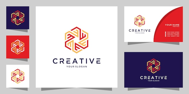 Lettre em et w modèle de conception d'icône de logo créatif