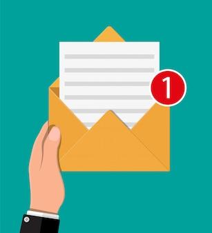 Lettre enveloppe papier avec contre-notification.