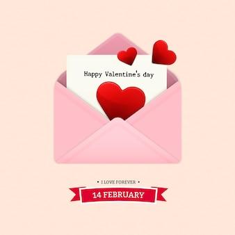 La lettre envoie à l'amant le jour de la saint-valentin