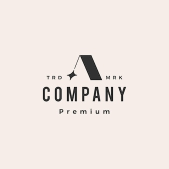 Une lettre étoile hipster logo vintage