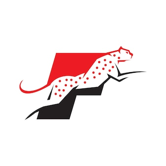 Lettre f cheetah logo