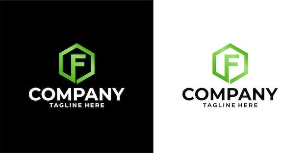Lettre f logo design premium vecteur