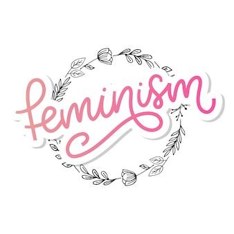 Lettre de féminisme typographique