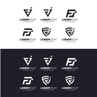 Lettre fj logo design