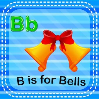 La lettre de flashcard b est pour des cloches
