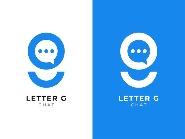 Lettre g chat logo design initial g marque design concept