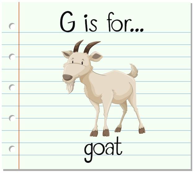 La lettre g de flashcard est pour la chèvre