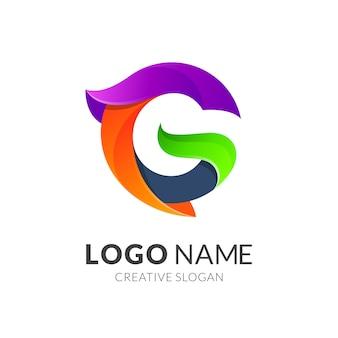 Lettre g logo coloré