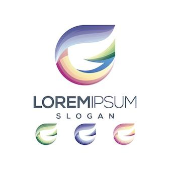 Lettre g logo dégradé couleur