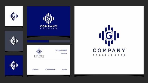 Lettre g vecteur de conception de logo de musique vecteur premium