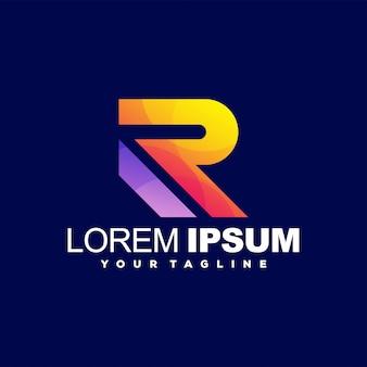 Lettre génial lettre r création de logo