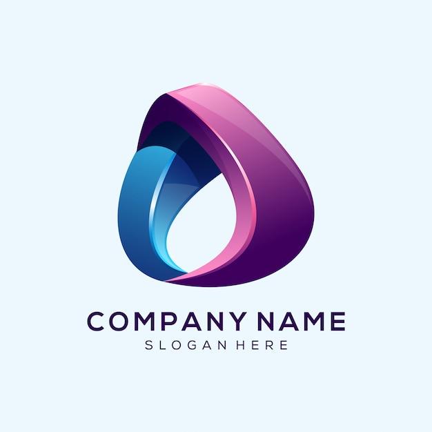 Lettre géniale lettre o logo