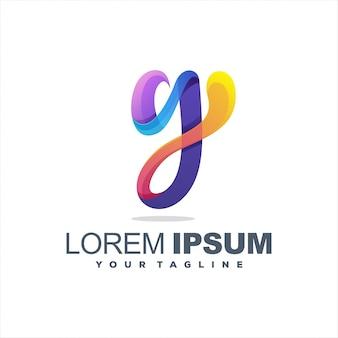 Lettre géniale lettre y logo