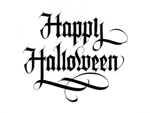 Lettre happy halloween