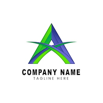 Lettre d'illustration de logo vectoriel un style coloré dégradé