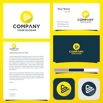 Lettre initiale du logo s ou su dans la carte de visite logo premium vecteur premium