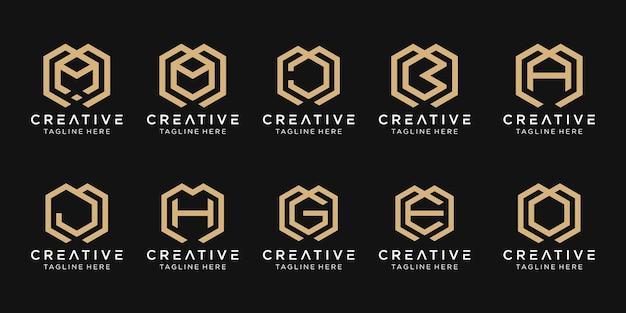 Lettre initiale icônes de modèle de logo mbage pour les entreprises du bâtiment de conseil en mode