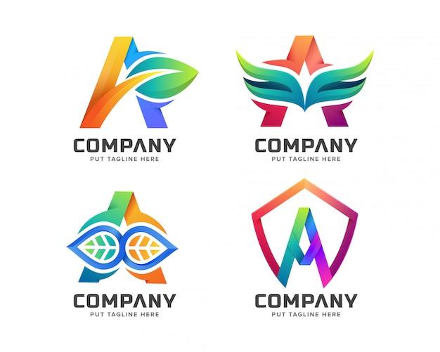 Lettre initiale un logo modèle pour entreprise