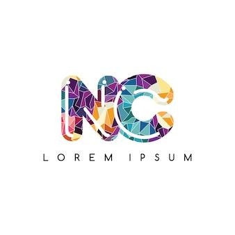 Lettre initiale logotype logo abstrait coloré géométrique