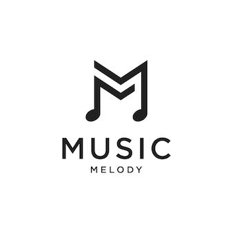 Lettre initiale m minimaliste avec conception de vecteur de logo keynote