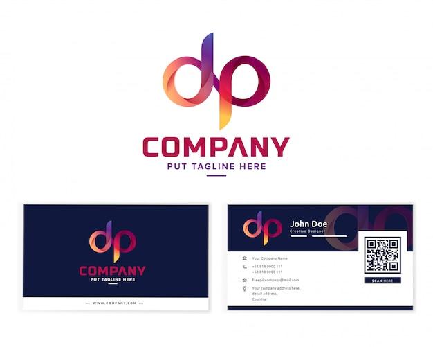 Lettre initiale d et p logo