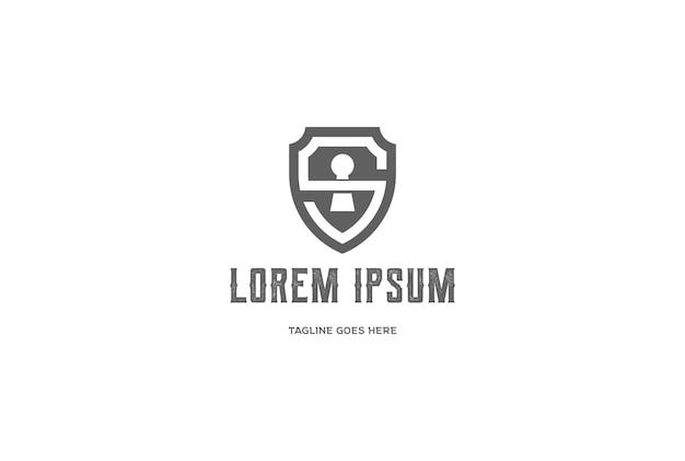 Lettre initiale s bouclier sécurisé sûr secret forte conception logo intelligent
