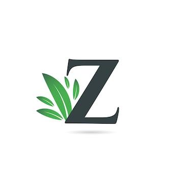Lettre initiale z feuille logo