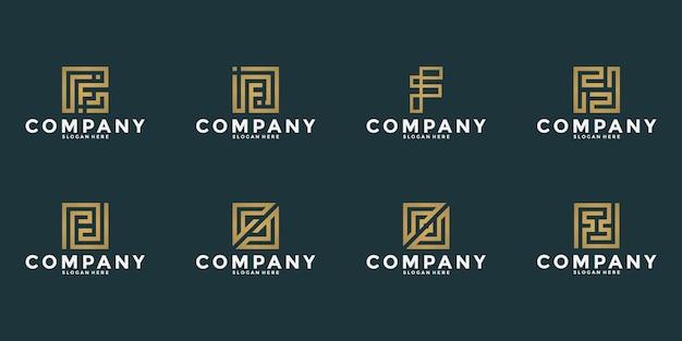 Lettre D'inspiration F Monogramme De Conception De Logo Pour Votre Entreprise Vecteur Premium