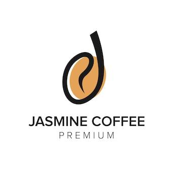 Lettre j café logo icône modèle vectoriel