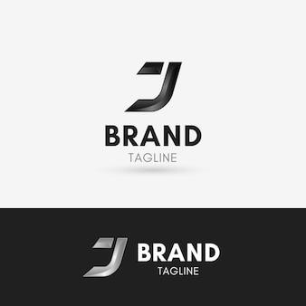 Lettre j logo en métal