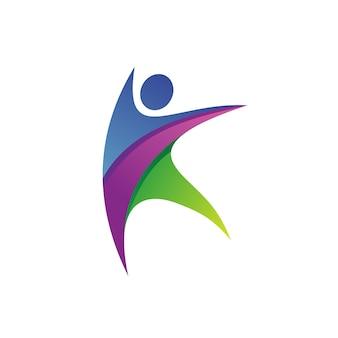 Lettre k gens logo vector