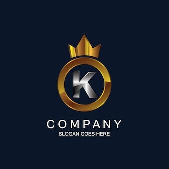 Lettre k avec logo couronne