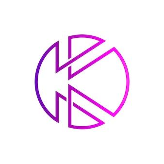 Lettre k logo initial
