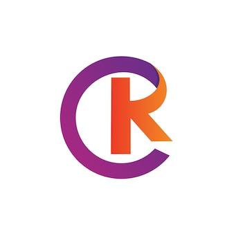 Lettre c et k logo vector