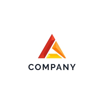 Lettre a logo abstrait
