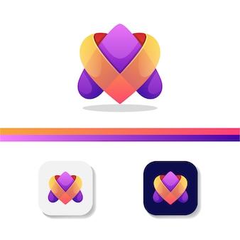 Lettre un logo d'amour