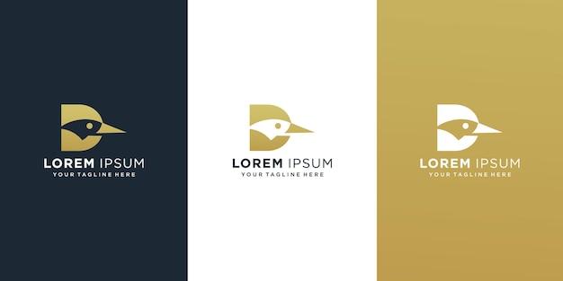 Lettre d avec logo de canard