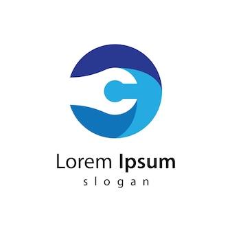 Lettre c logo design icône illustration design