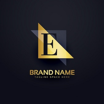 Lettre logo e dans un style moderne