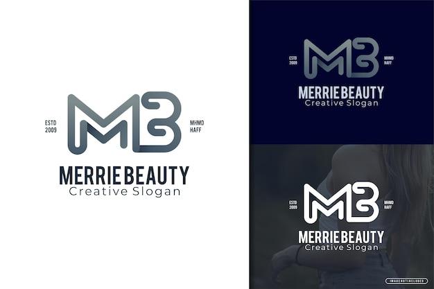 Lettre de logo élégant mb modèle de logo minimaliste